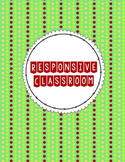 Responsive Classroom Binder Cover & Spine