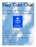 Responsive Classroom Chair Sign