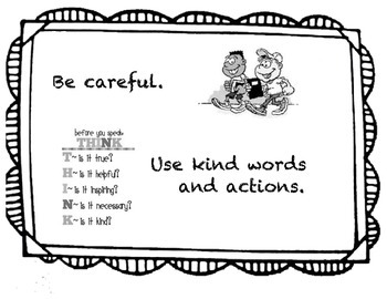 Responsive Classroom Community Rules