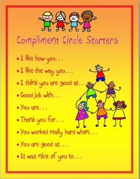 Responsive Classroom: Compliment Circle Starters