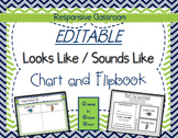 EDITABLE Looks Like/Sounds Like Chart & Flipbook