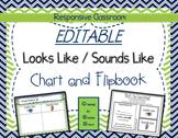 EDITABLE Looks Like/Sounds Like Chart & Flipbook