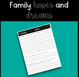 Responsive Classroom: Family Hopes and Dreams
