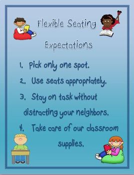 Responsive Classroom: Flexible Seating Expectations