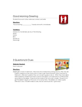 Responsive Classroom Greetings and Activities