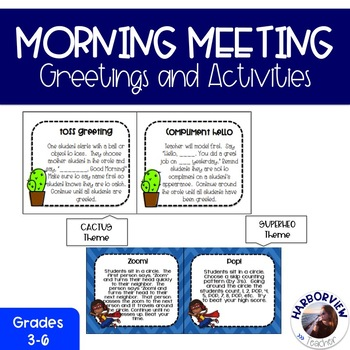 Responsive classroom greetings and activities for morning meeting m4hsunfo