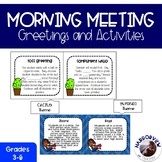Responsive Classroom: Greetings and Activities for Morning Meeting