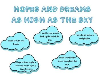 Responsive Classroom: Hopes and Dreams as High as the Sky Bulletin Board