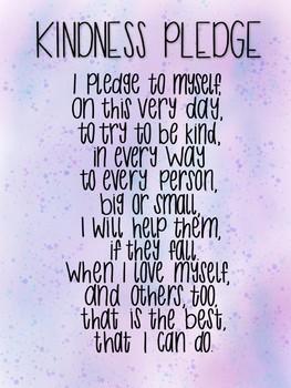 Responsive Classroom: Kindness Pledge