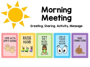 Responsive Classroom Morning Meeting Expectations Poster