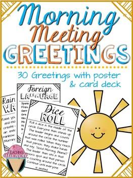 Responsive classroom morning meeting greetings by teaching a la mode responsive classroom morning meeting greetings m4hsunfo