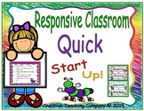 Responsive Classroom Morning Meeting Quick Start Up! K - 2