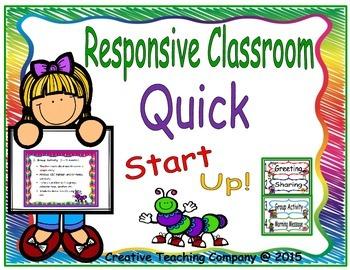 Responsive Classroom Morning Meeting Quick Start Up! K - 2
