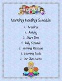 Responsive Classroom: Morning Meeting Schedule