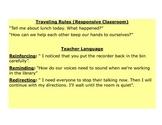 Responsive Classroom Notes