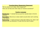 Responsive Classroom Notes