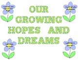 Responsive Classroom: Our Growing Hopes and Dreams Bulletin Board