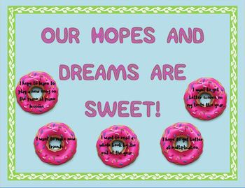Responsive Classroom: Our Hopes and Dreams are Sweet! Bulletin Board