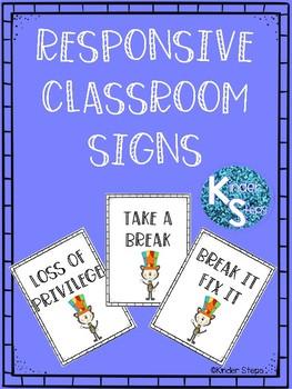Responsive Classroom Signs