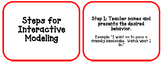 Responsive Classroom: Steps For Interactive Modeling Cards