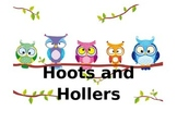 Responsive Classroom, Student Feelings, Hoots and Hollers