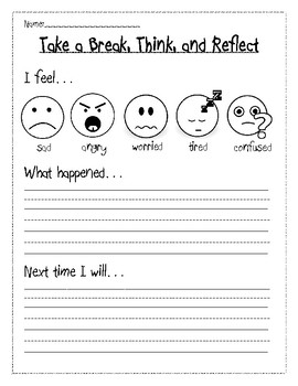 Responsive Classroom: Take a Break, Think, and Reflect