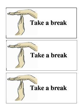 "Responsive Classroom - ""Take a break"" cards"