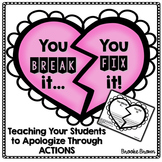 """You break it, You fix it"" (Apology of Action) Activities"
