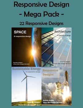 Responsive Design Mega Pack - x22 -  PDF - Design Thinking - IB MYP Rubric  STEM