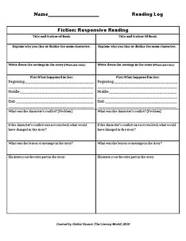 Responsive Reading Log