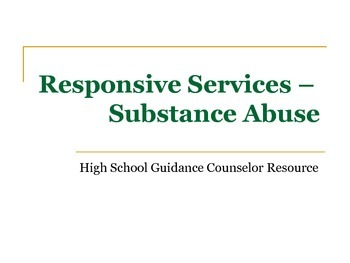 Responsive Services - Substance Abuse