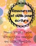Ressources et outils pour écriture
