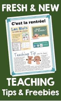 La rentrée: astuces et ressources gratuites {Back to School Tips and Freebies}