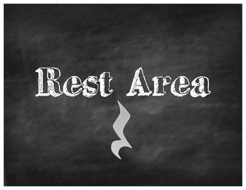 Rest Area - Chalkboard Style
