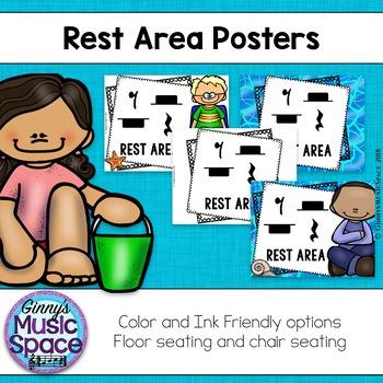 Rest Area Posters Ocean Friends Theme