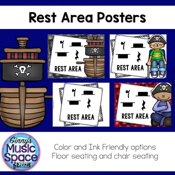 Rest Area Posters Pirate Theme