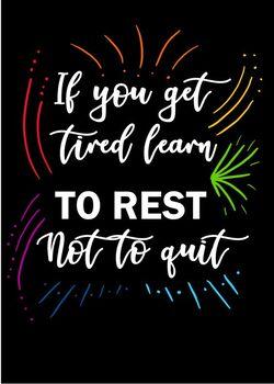 Rest Don't Quit Poster