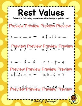 Rest Values (Music Math)