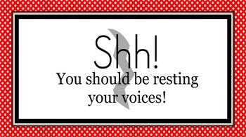 Rest Your Voices!