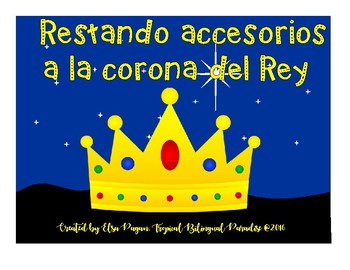 Restando accesorios de la corona - Subtracting Three Wise Kings crown