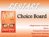 Restart Choice Board Novel Study Activities Menu Book Extension Project Rubric