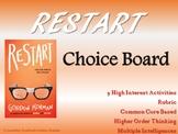 Restart Choice Board Novel Study Activities Menu Book Exte