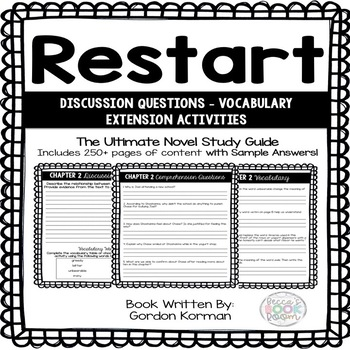 Restart - Comprehension Questions - Written by Gordon Korman