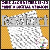 Restart Quiz 3 (Ch. 15-22)