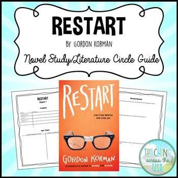 Gordon korman teaching resources teachers pay teachers restart by gordon korman novel studyliterature circle guide fandeluxe Images