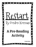 Restart by Gordon Korman Pre-reading Activity