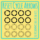 Restart or Cycle Arrows in a Circle Clip Art Set for Commercial Use
