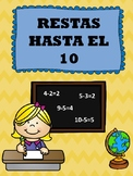 Restas Hasta El 10 (Corta y Pega) - Subtraction Up To 10 (