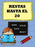 Restas Hasta El 20 (Corta y Pega) - Subtraction Up To 20 (