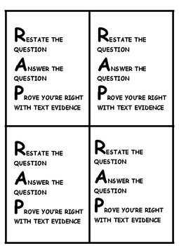 Restate and Answer Written Response Strategy